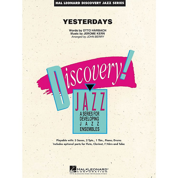 Hal Leonard Yesterdays - Discovery Jazz Series Level 1.5