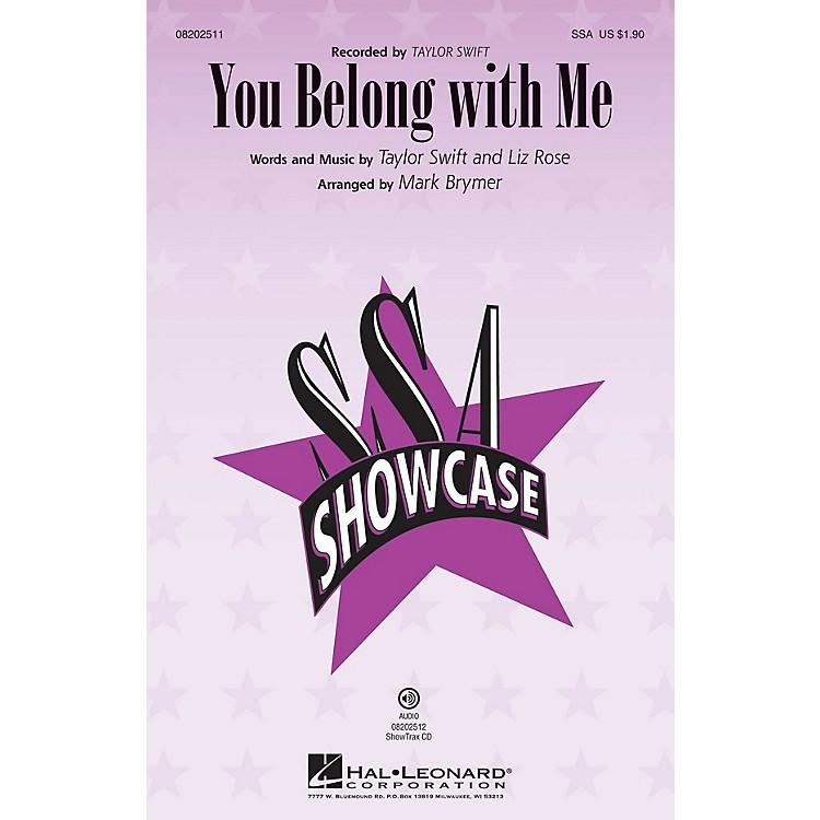 Hal LeonardYou Belong with Me SSA by Taylor Swift arranged by Mark Brymer