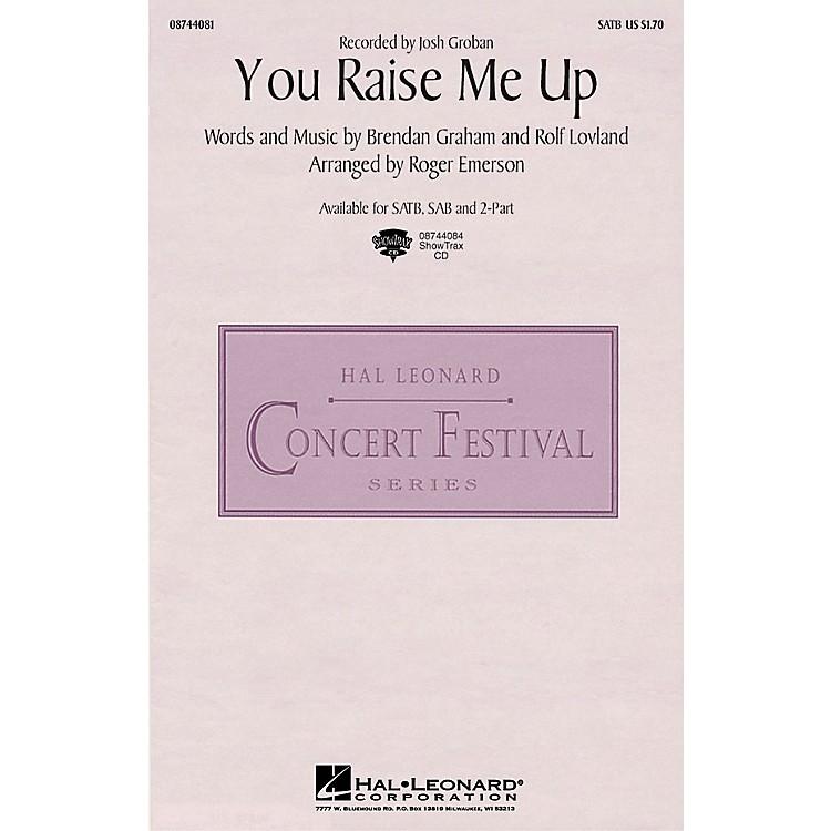 Hal LeonardYou Raise Me Up SATB by Josh Groban arranged by Roger Emerson
