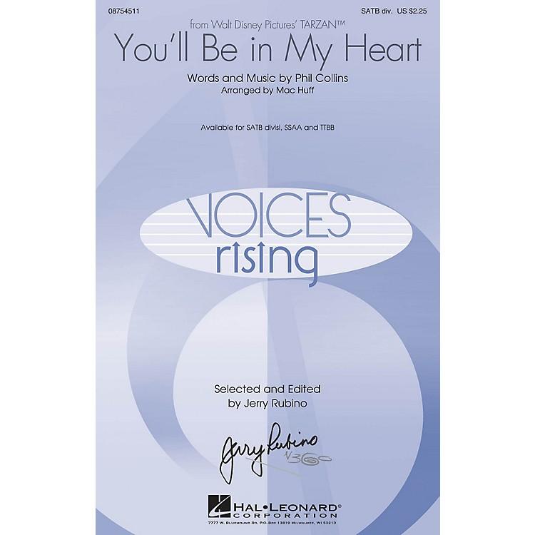 Hal LeonardYou'll Be in My Heart (from Tarzan) TTBB by Phil Collins Arranged by Mac Huff