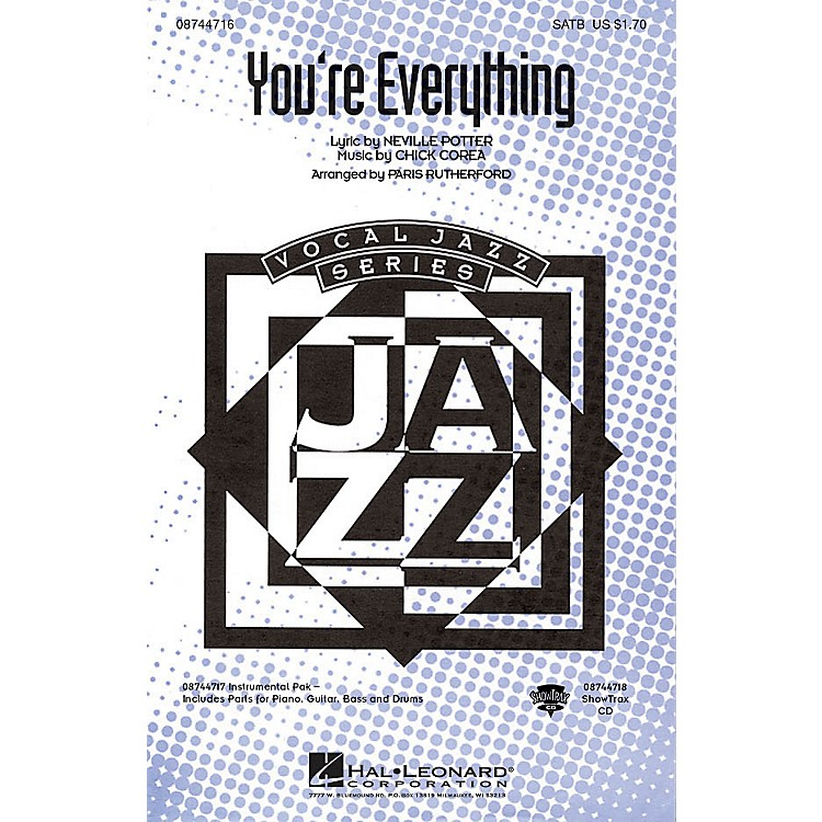 Hal LeonardYou're Everything SATB arranged by Paris Rutherford