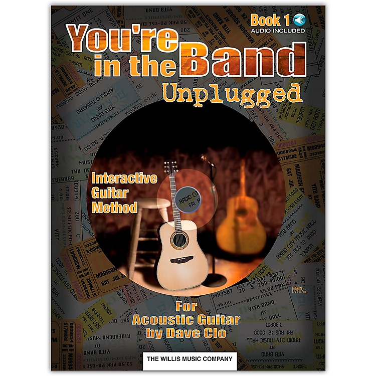 Willis MusicYou're In The Band Unplugged Book 1 for Acoustic Guitar (Book/Online Audio)