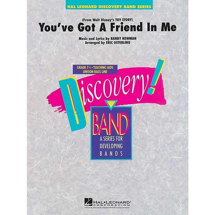 Hal Leonard You've Got a Friend in Me Concert Band Level 1.5 Arranged by Eric Osterling