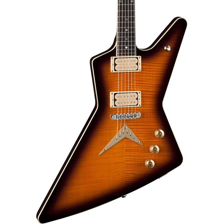 DeanZ Chicago Flame Electric GuitarTransparent Brazilia