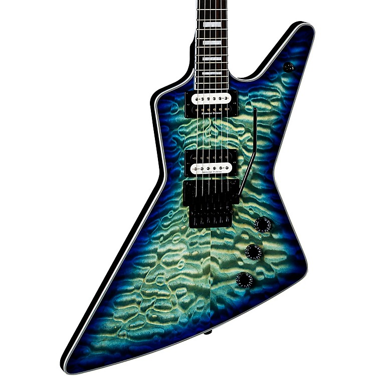 DeanZ Select Quilt Top with Floyd Electric GuitarOcean Burst