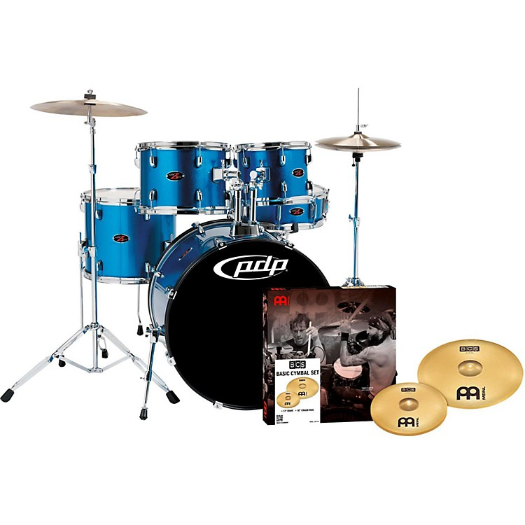 PDP by DWZ5 5-Piece Drumset with Meinl CymbalsAqua Blue