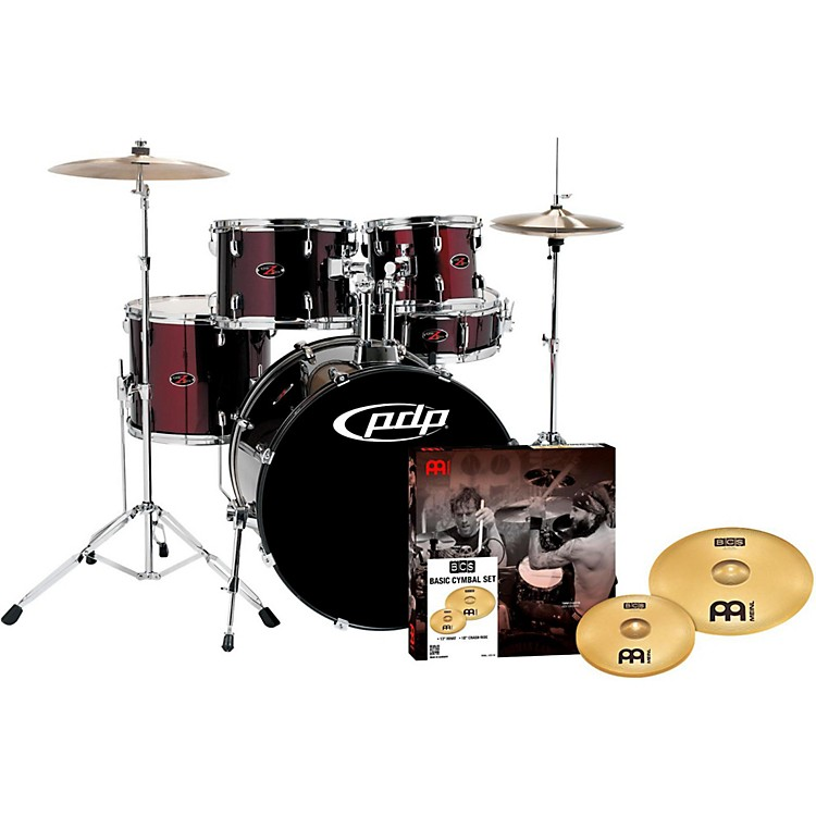 PDP by DW Z5 5-Piece Drumset with Meinl Cymbals Black Cherry