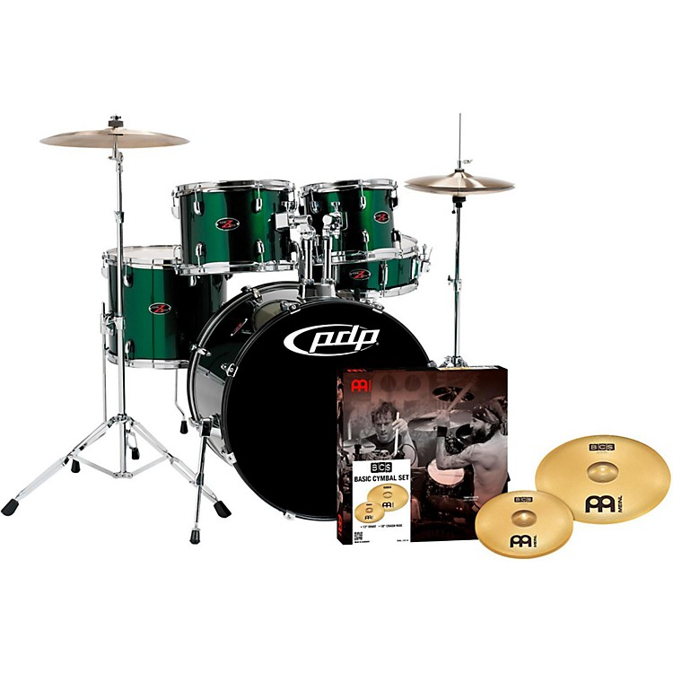 PDP by DWZ5 5-Piece Drumset with Meinl CymbalsEmerald