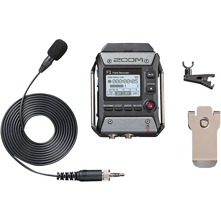 ZoomZF1LP F1 Field Recorder Lavalier Package