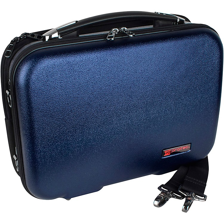 Protec ZIP Clarinet Case with Removable Music Pocket, Blue Blue Black