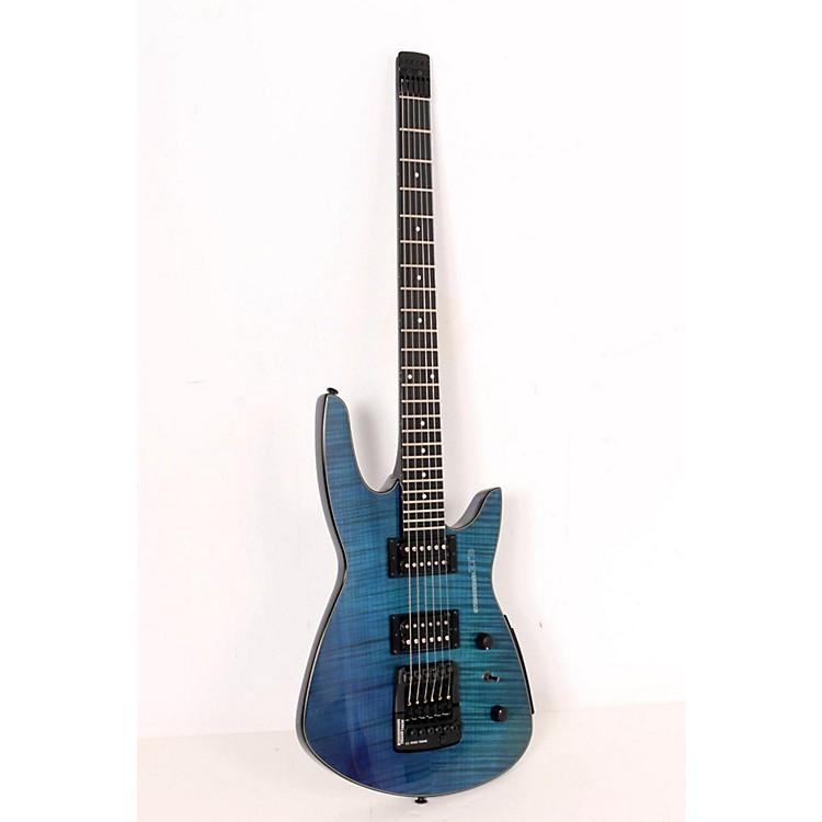 SteinbergerZT3 Custom TransTrem Electric GuitarTransparent Blue888365160146