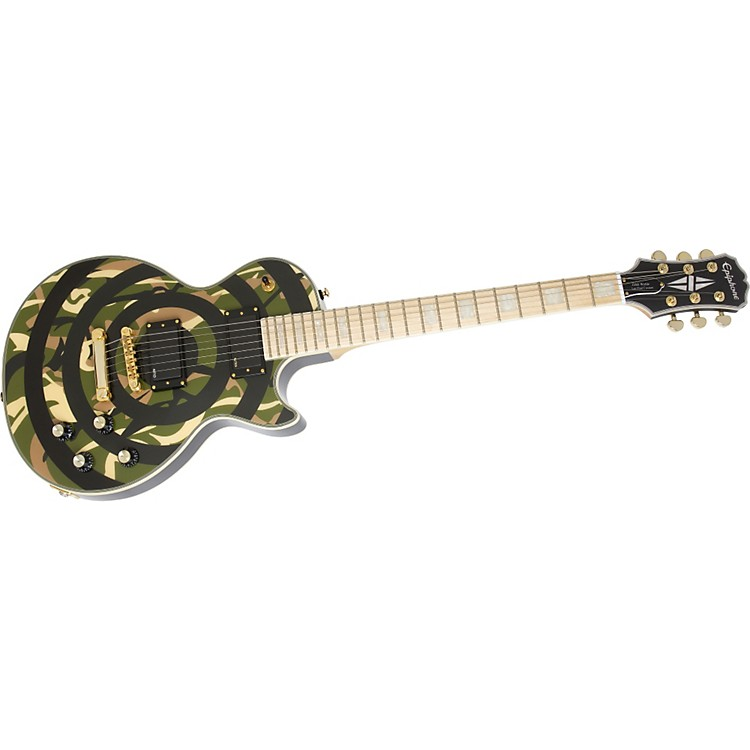 Epiphone Zakk Wylde Bullseye Les Paul Custom Plus Electric Guitar Camouflage