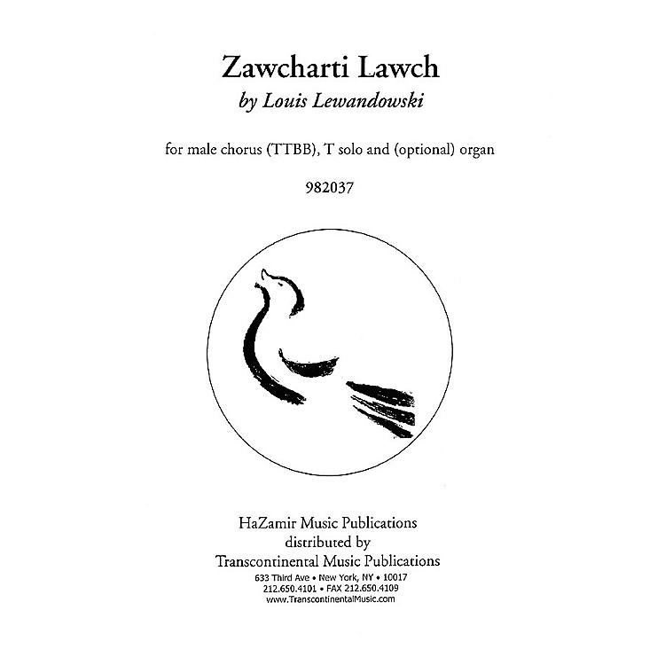 Transcontinental MusicZawcharti Lawch TTBB composed by Louis Lewandowski