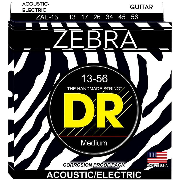 DR StringsZebra Acoustic-Electric Medium Heavy Guitar Strings