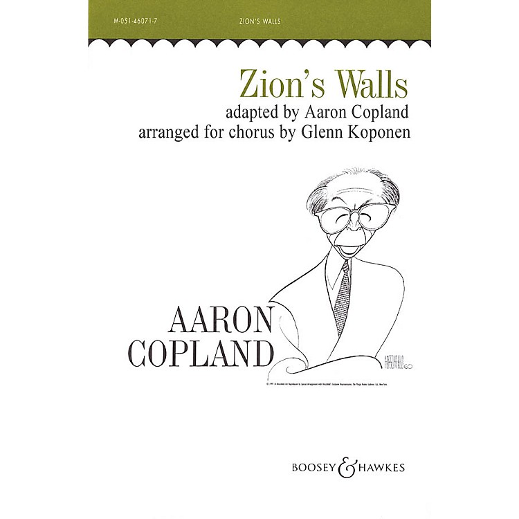 Boosey and Hawkes Zion's Walls (Revivalist Song) TTBB arranged by Glenn Koponen