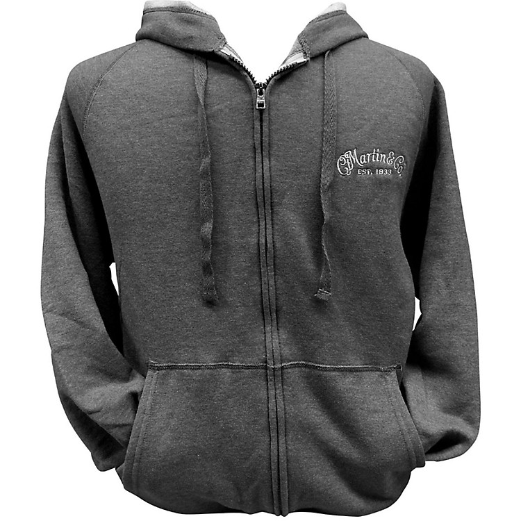 Martin Zipper Hoodie Small Charcoal