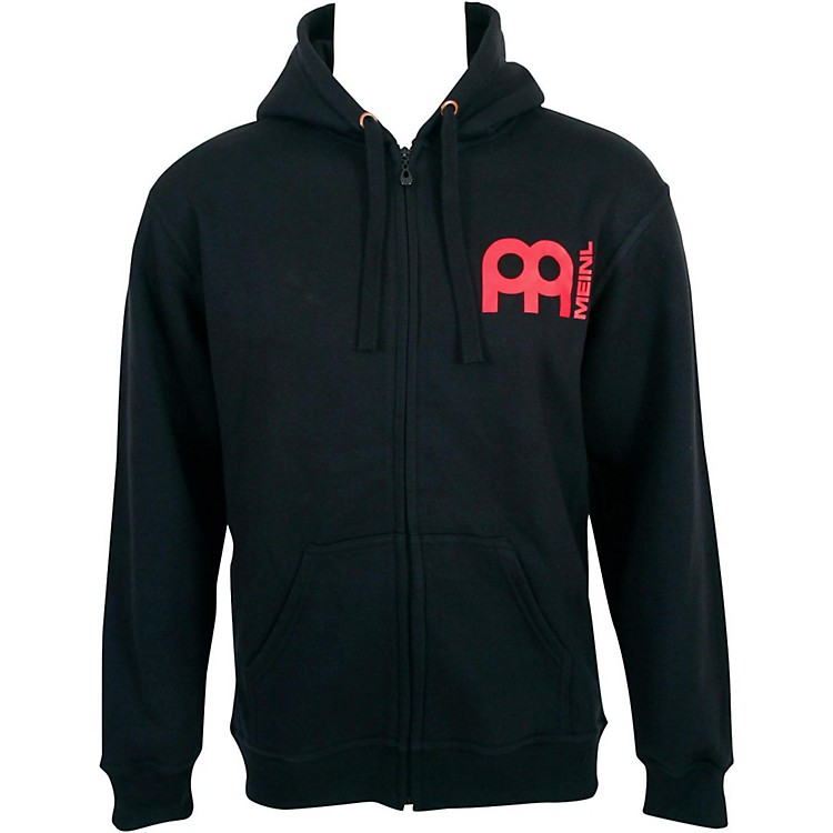 Meinl Zipper Hoodie with Skull Logo on Back Medium Black