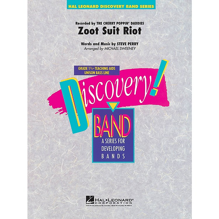 Hal Leonard Zoot Suit Riot Concert Band Level 1 1/2 by Cherry Poppin' Daddies Arranged by Michael Sweeney