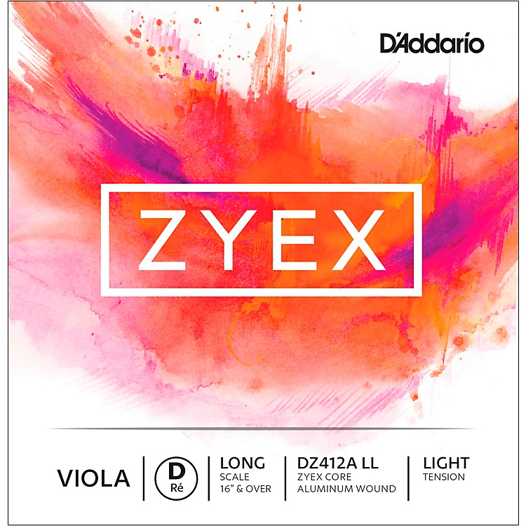 D'Addario Zyex Series Viola D String  16+ Long Scale Light