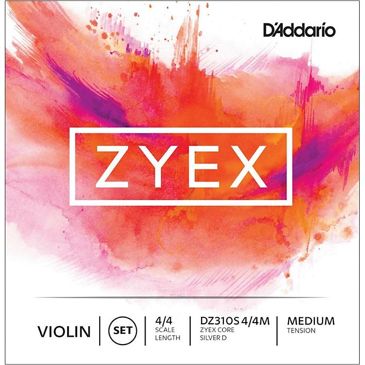 D'AddarioZyex Series Violin String Set4/4 Size Medium, Silver D
