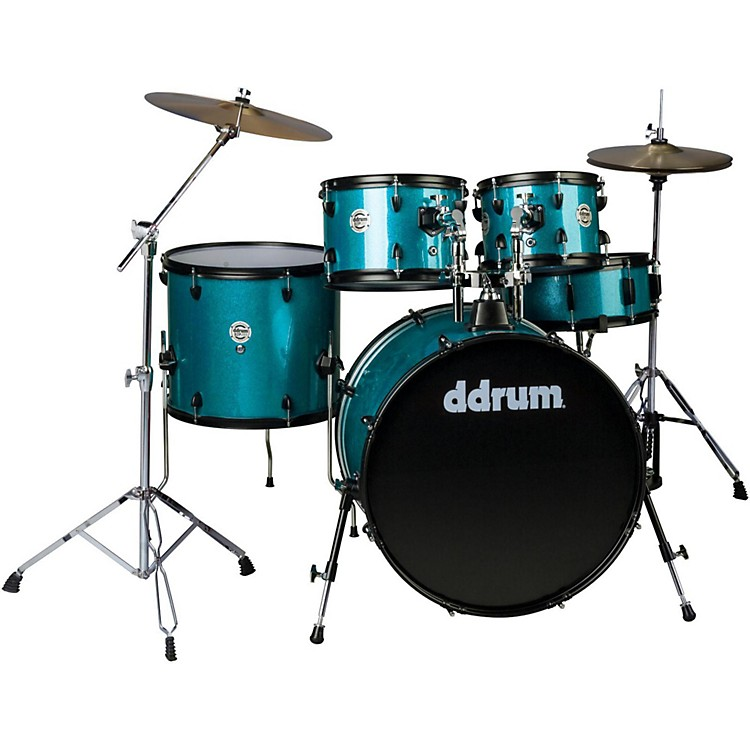Ddrum d2 Player 5-Piece with Hardware and Cymbals Blue Sparkle