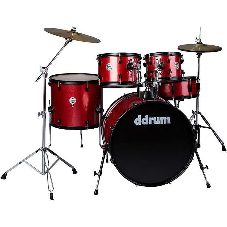 ddrum d2 Player 5-Piece with Hardware and Cymbals Red Sparkle