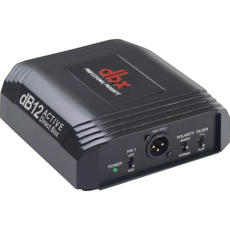 dbx dB12 Active Direct Box Black 888365786476