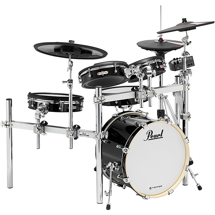 Pearl e/MERGE e/HYBRID Electronic Drum Set Powered by KORG Jet Black