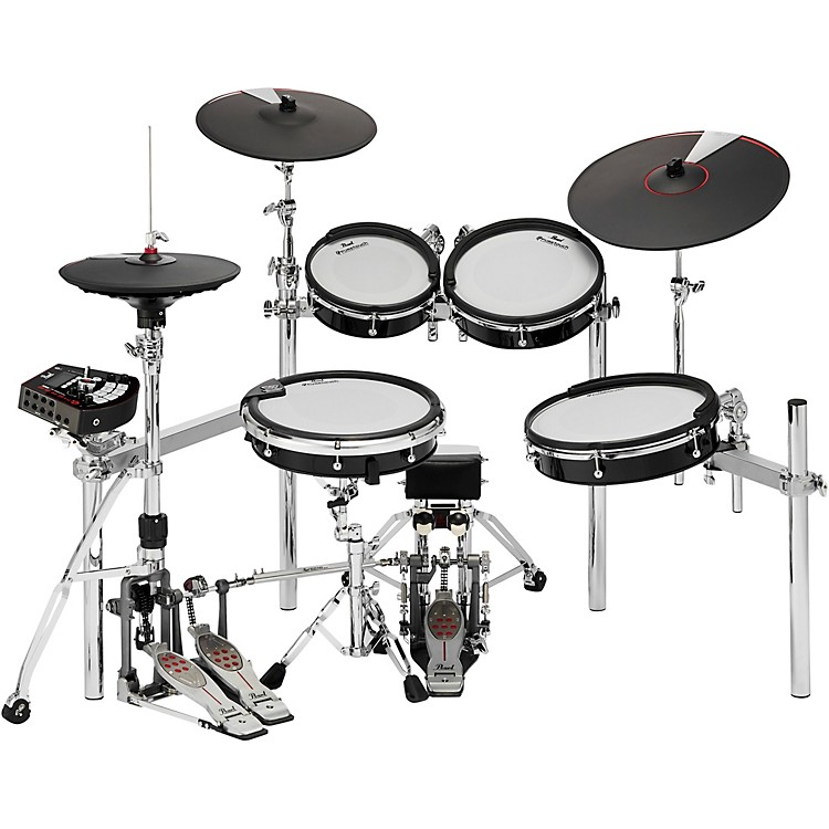 Pearle/MERGE e/TRADITIONAL Electronic Drum Set Powered by KORGJet Black