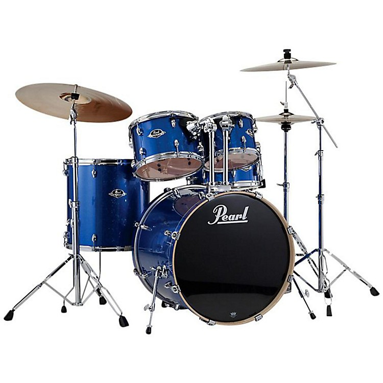 Pearl ePRO Powered by Export Acoustic Electric New Fusion Drumset Electric Blue Sparkle