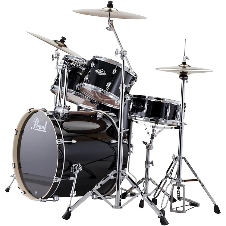PearlePRO Powered by Export Acoustic Electric New Fusion DrumsetJet Black