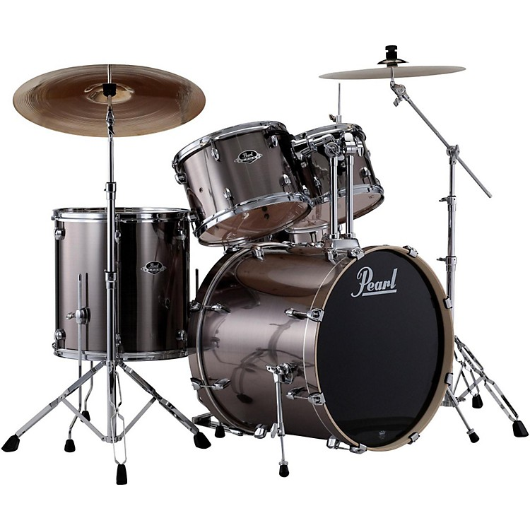 PearlePRO Powered by Export Acoustic Electric New Fusion DrumsetSmokey Chrome
