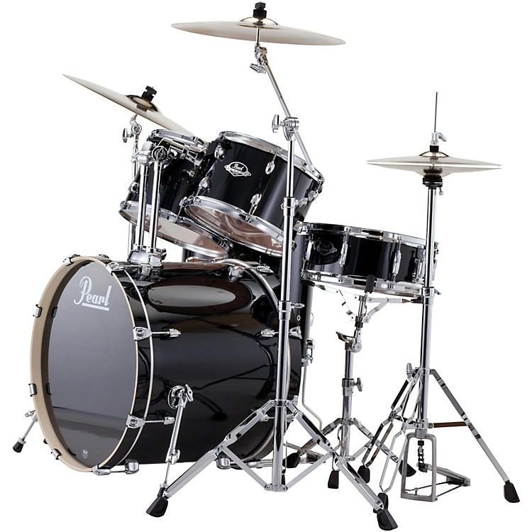 PearlePRO Powered by Export Acoustic Electric Standard DrumsetJet Black