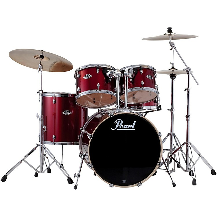 Pearl ePRO Powered by Export Acoustic Electric Standard Drumset Wine Red