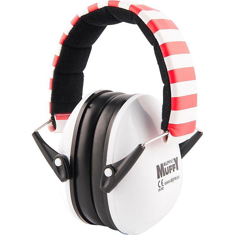 Alpine Hearing Protection(ea) Earmuffs for kids (White & Red)