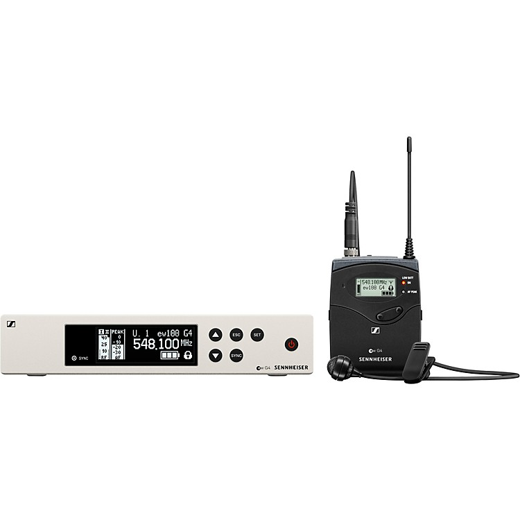 Sennheiserew 100 G4 Lavalier Wireless System with ME4 Cardioid Lavalier MicrophoneBand G
