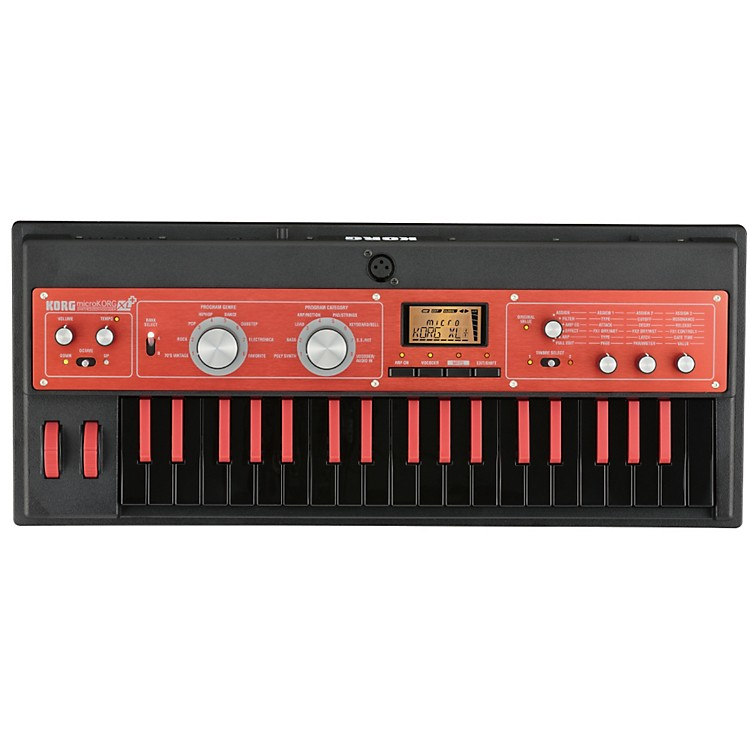 Korg microKORG XL 37 Mini-Key MMT Synth Black and Red 886830888427