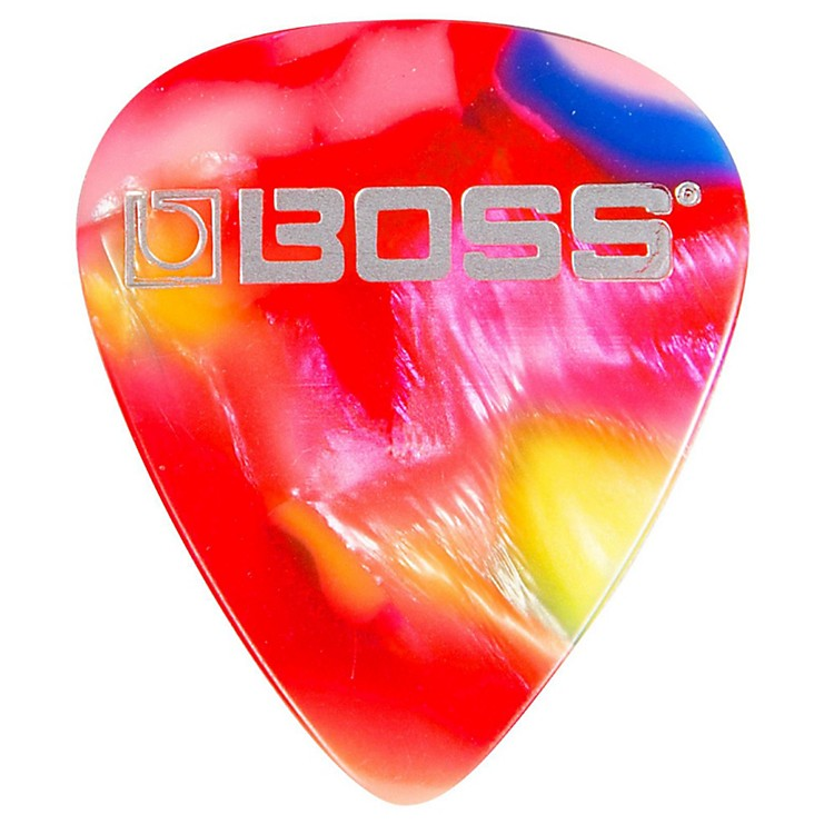 Boss mosaic Celluloid Guitar Pick Heavy 12 Pack