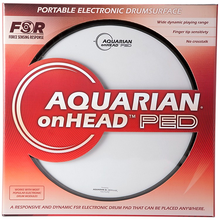 Aquarian onHEAD Portable Electronic Drumsurface 14 in.
