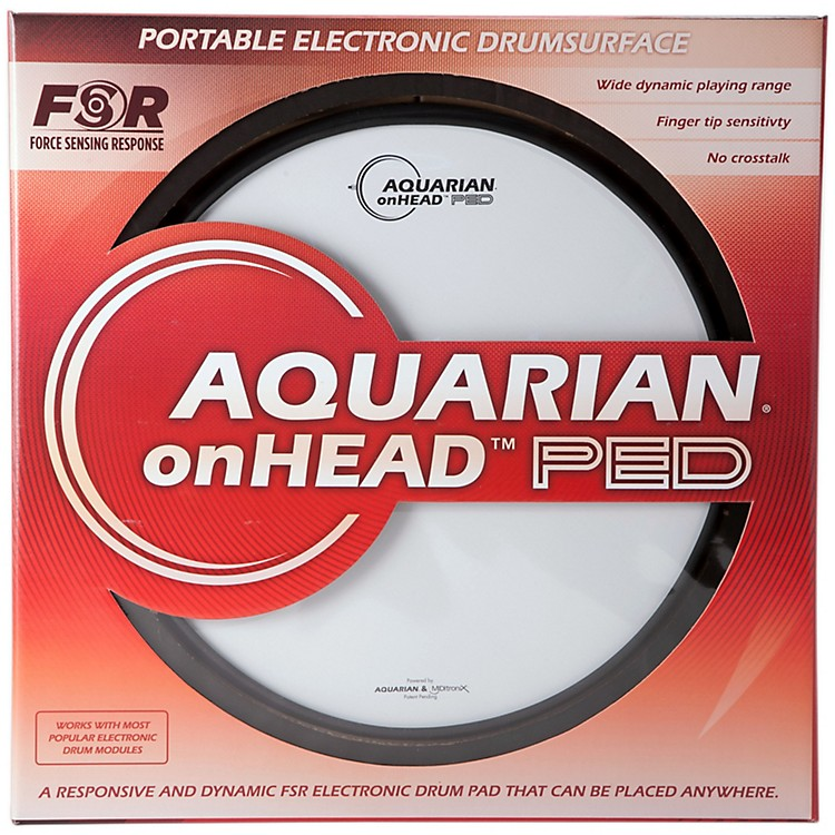 Aquarian onHEAD Portable Electronic Drumsurface Bundle Pak 12 in.
