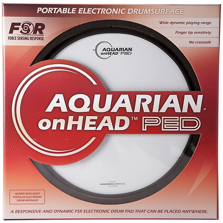 Aquarian onHEAD Portable Electronic Drumsurface Bundle Pak 16 in.