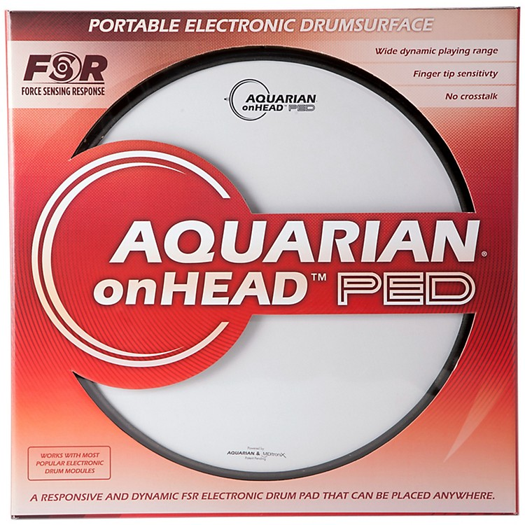 Aquarian onHEAD Portable Electronic Drumsurface Bundle Pak 14 in.