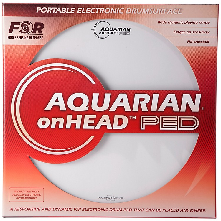 Aquarian onHEAD Portable Electronic Drumsurface Bundle Pak 12 in. 888365838441